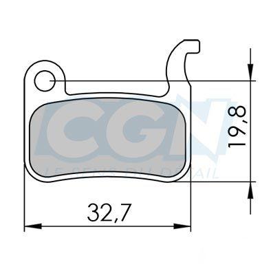 Plaquettes de frein 38 Clarks Exotherm comp. Shimano / TRP Organique