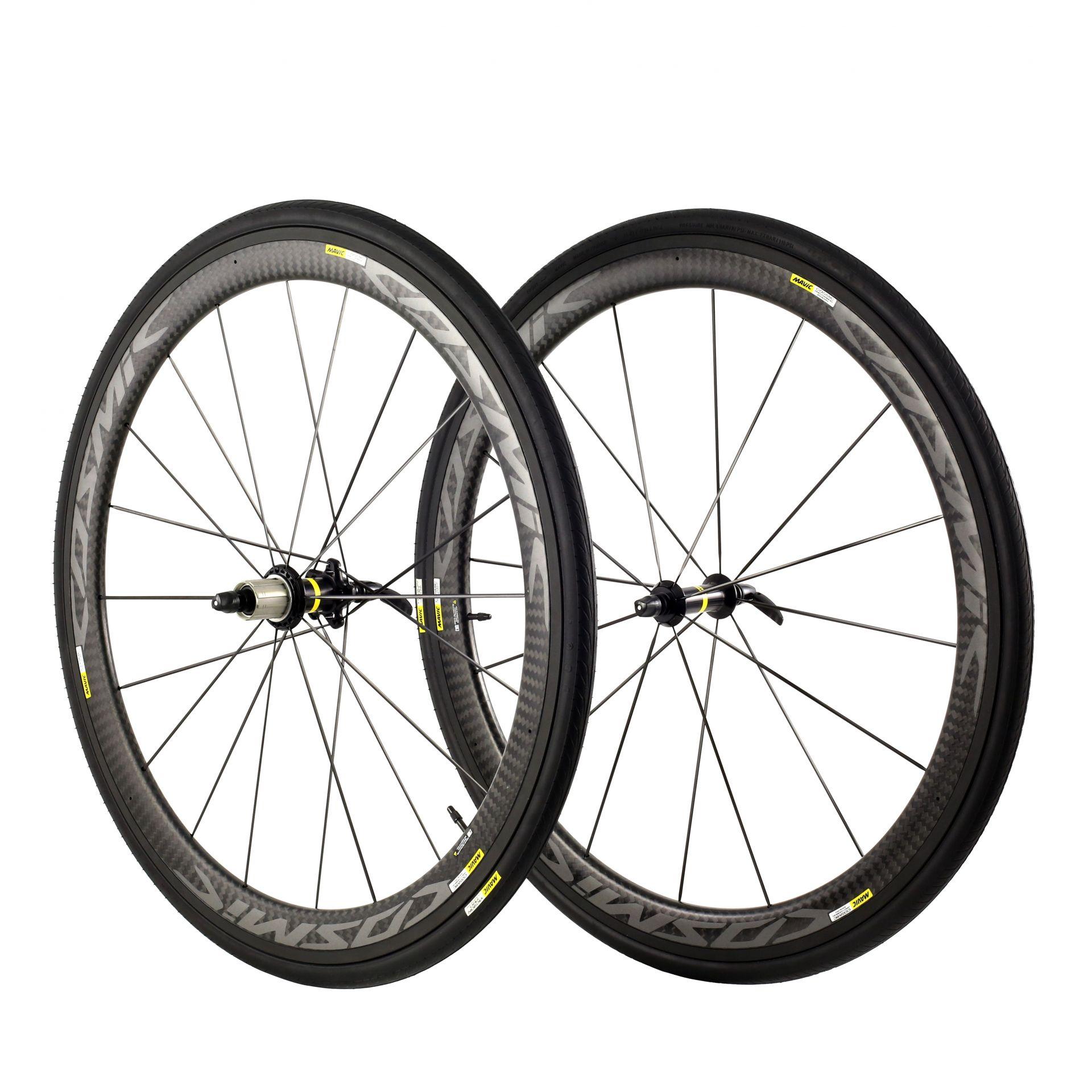 Paire de roues Mavic Cosmic Pro Carbon Exalith Shim. 11V '17 Carbone/Gris métal