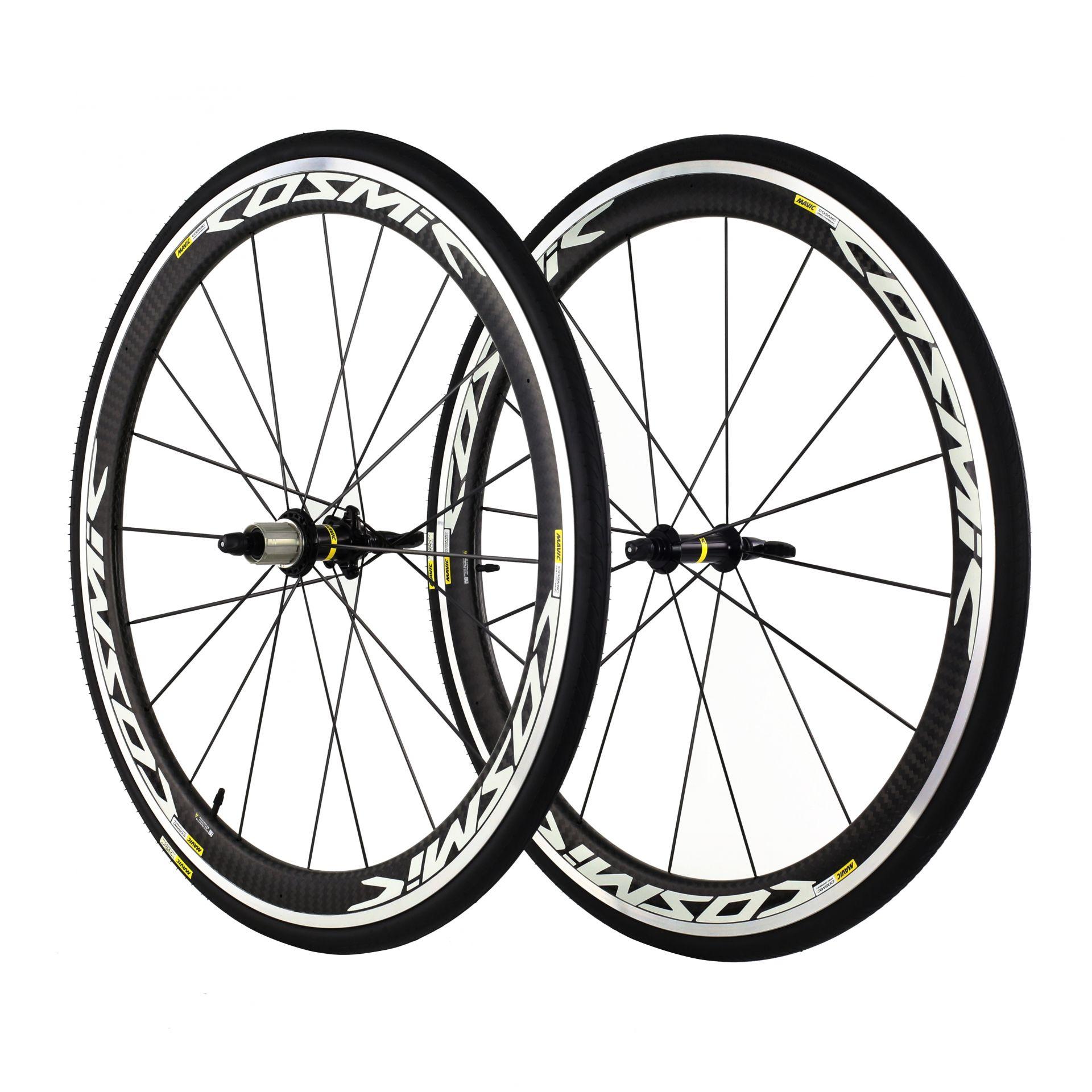 Paire de roues Mavic Cosmic Pro Carbon Shim. 11V '17 Carbone/Blanc