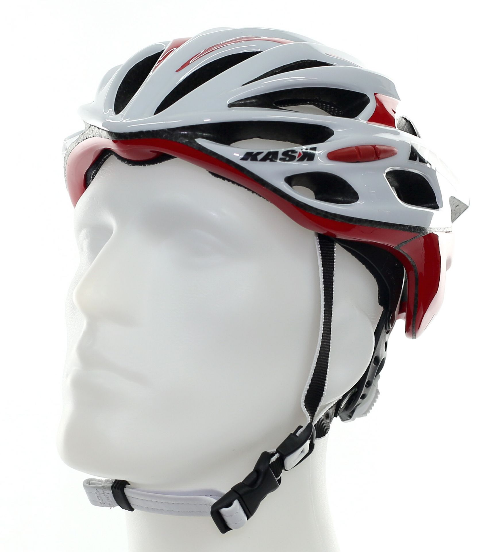 Casque KASK Mojito - Blanc/Rouge - M