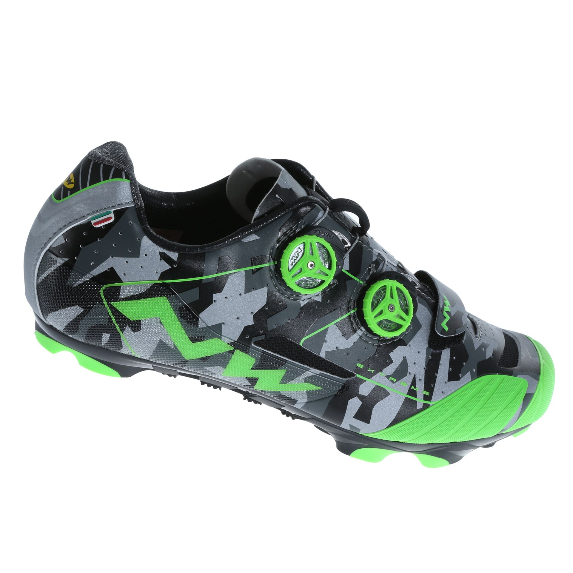 Chaussures Northwave Extreme XCM Camo réfléchissant/Vert Fluo - 40,5