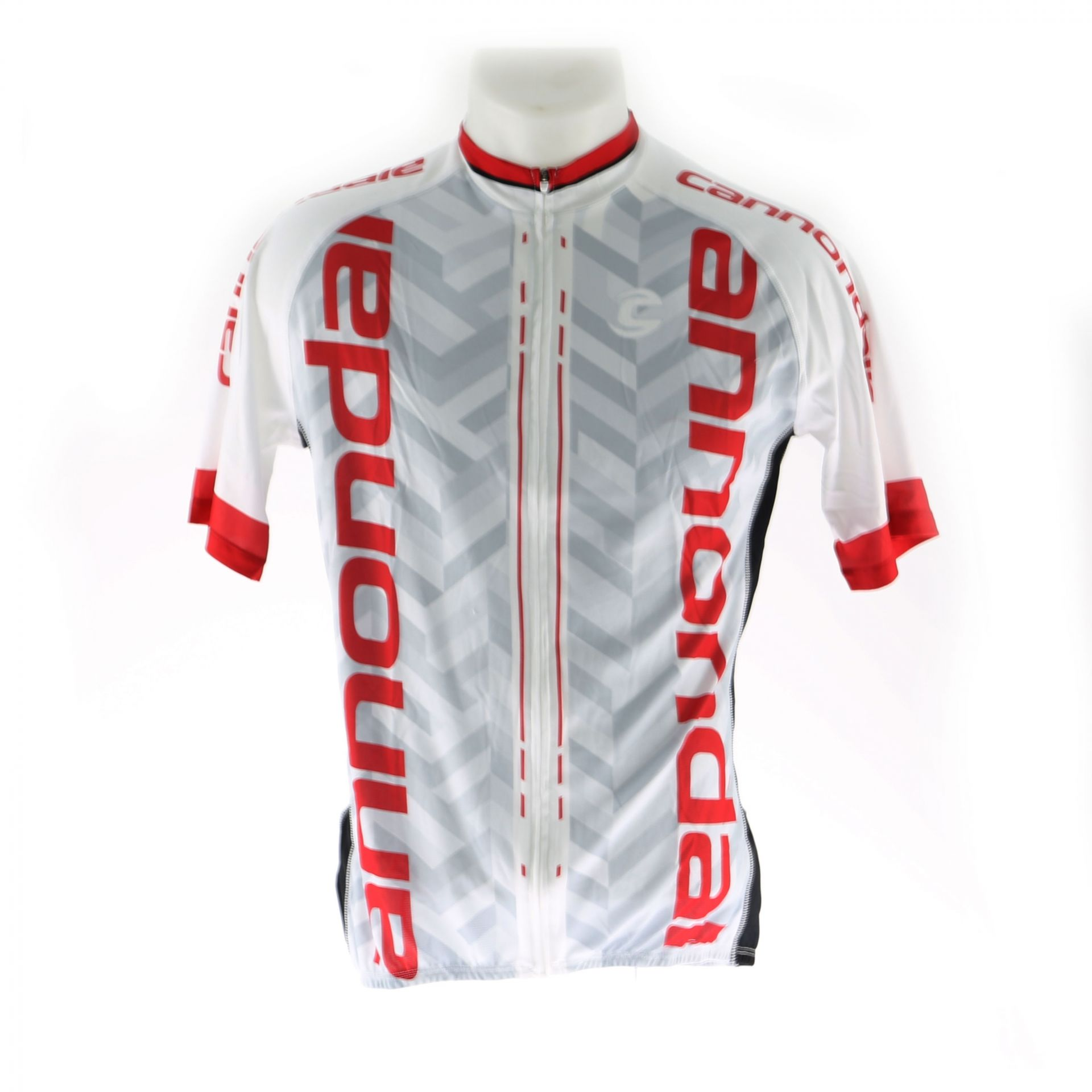 Maillot Cannondale Performance 2 Pro Jersey Blanc/Rouge Racing - M