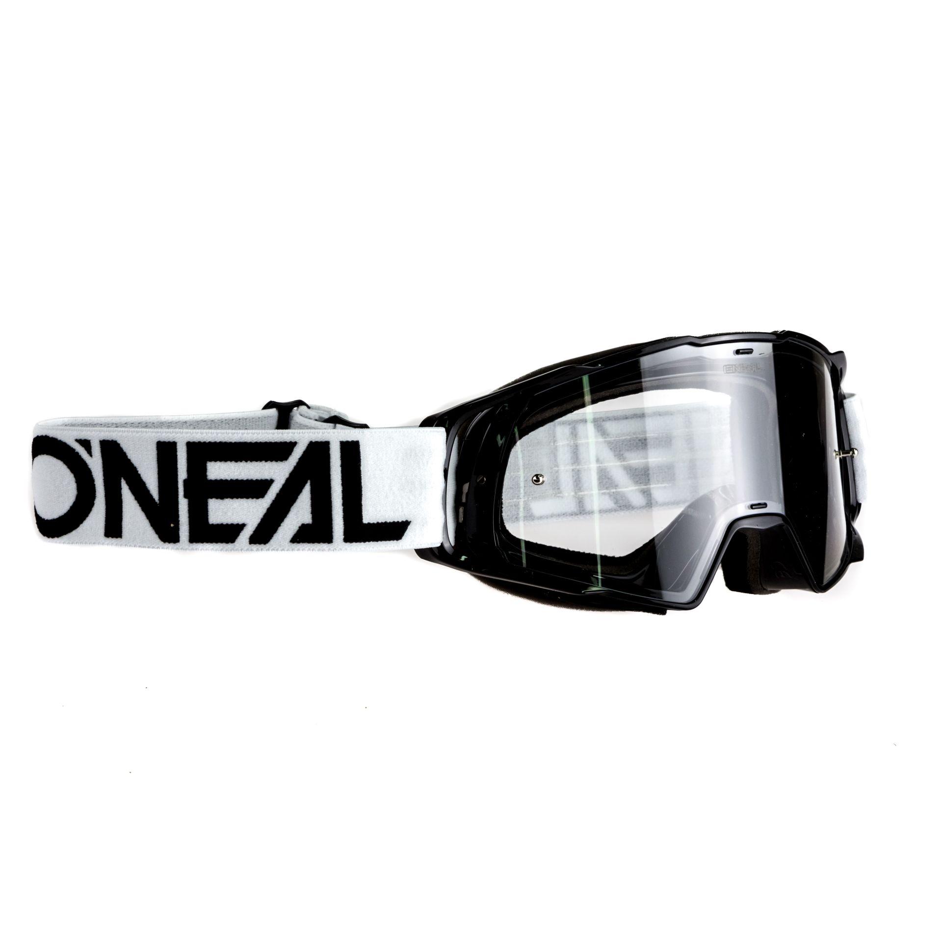 Masque O'Neal B20 Flat Noir/Blanc Clear