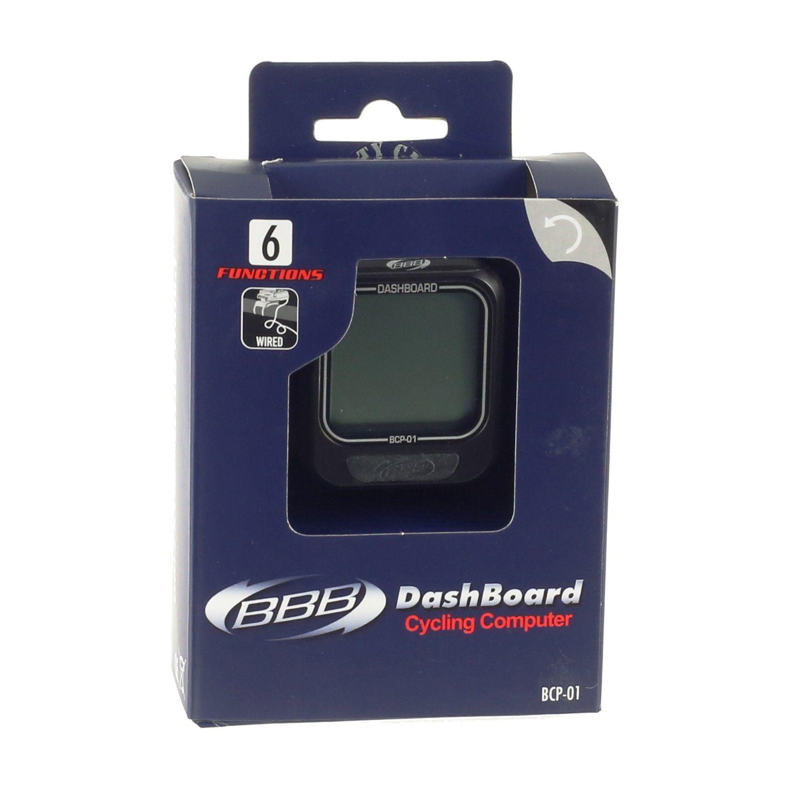 Compteur filaire BBB DashBoard 6 fonctions (noir) - BCP-01