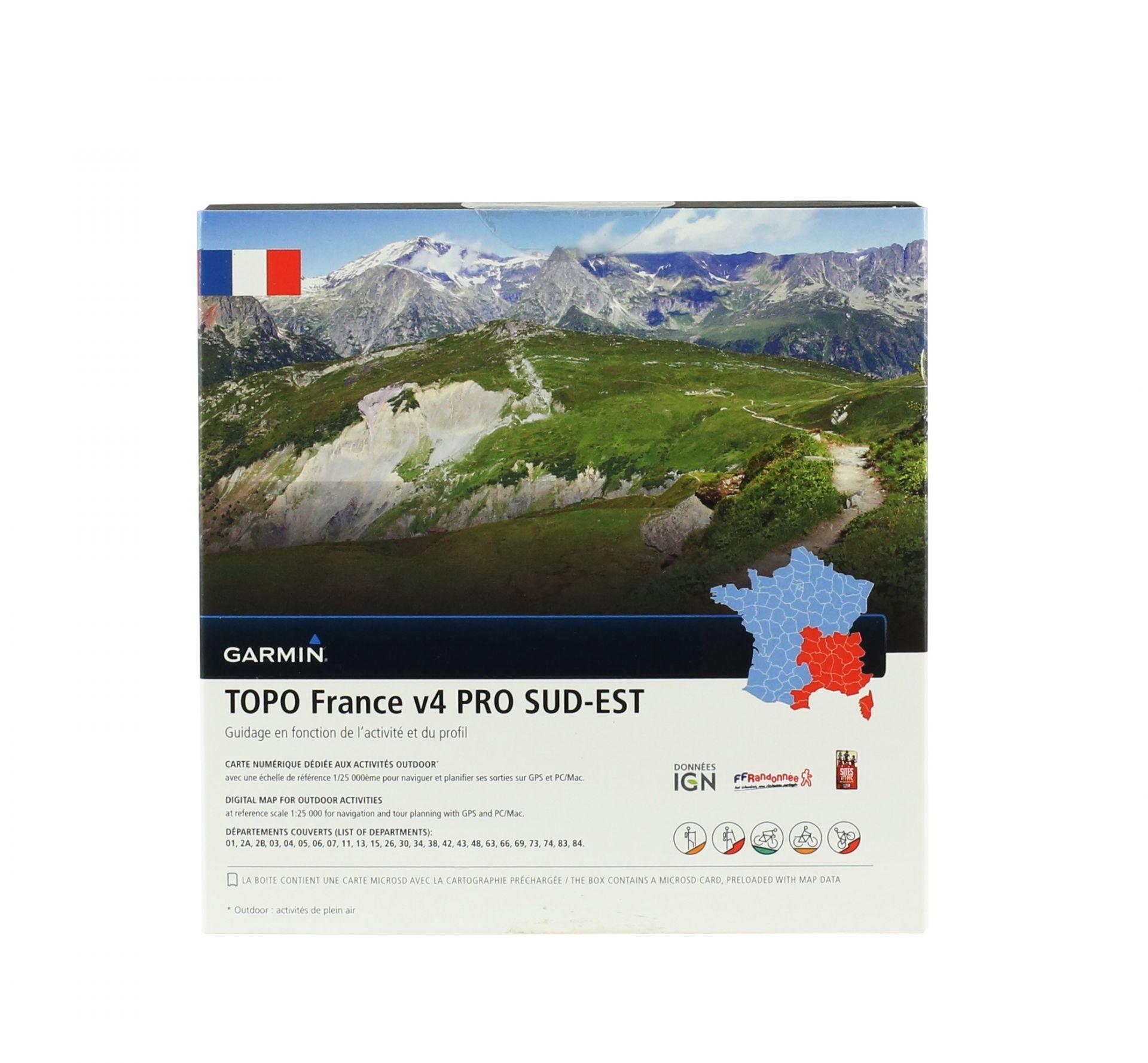 Cartographie Garmin IGN Topo France v4 Sud-Est Pro