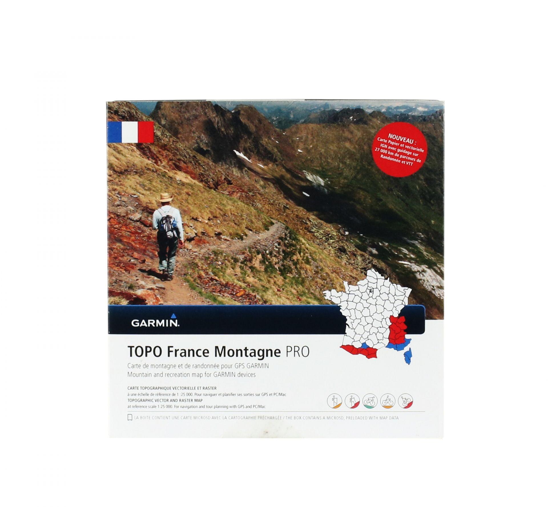 Cartographie Garmin IGN Topo France Montagne Pro
