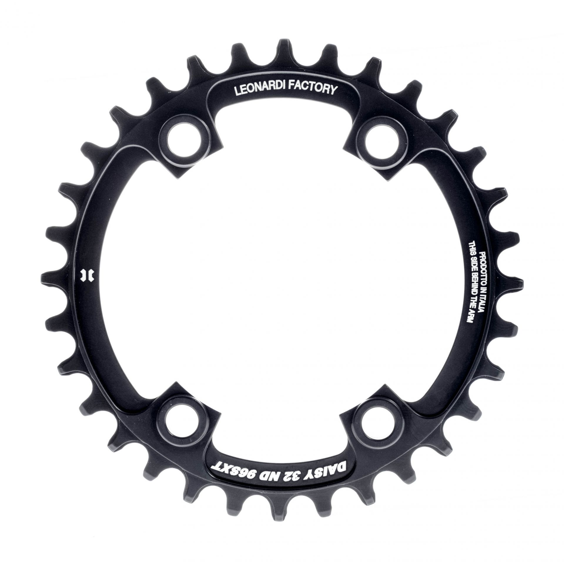 Plateau narrow/wide Leonardi Factory Daisy comp. Shimano 96 mm 10/11V 32 dents Noir