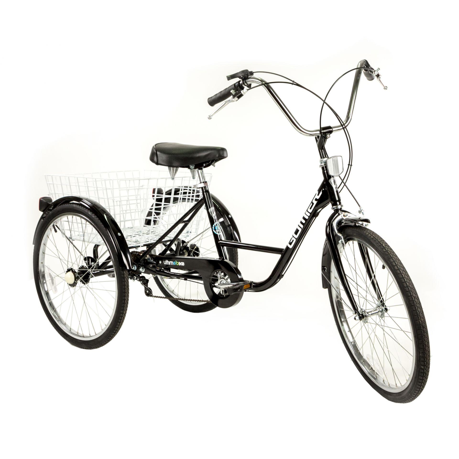 Tricycle adulte Gomier TR-2403 24 pouces 5 vitesses Noir