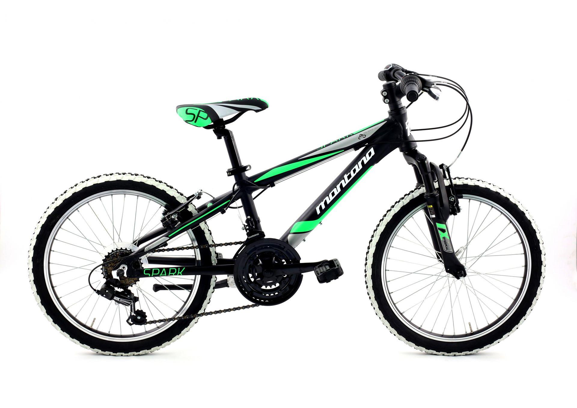 Vélo enfant Spark 20 Revo 3x6V Montana Noir mat/Vert