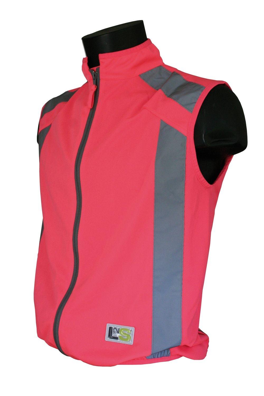 Gilet de sécurité sport L2S Visioplus Rose fluorescent - S