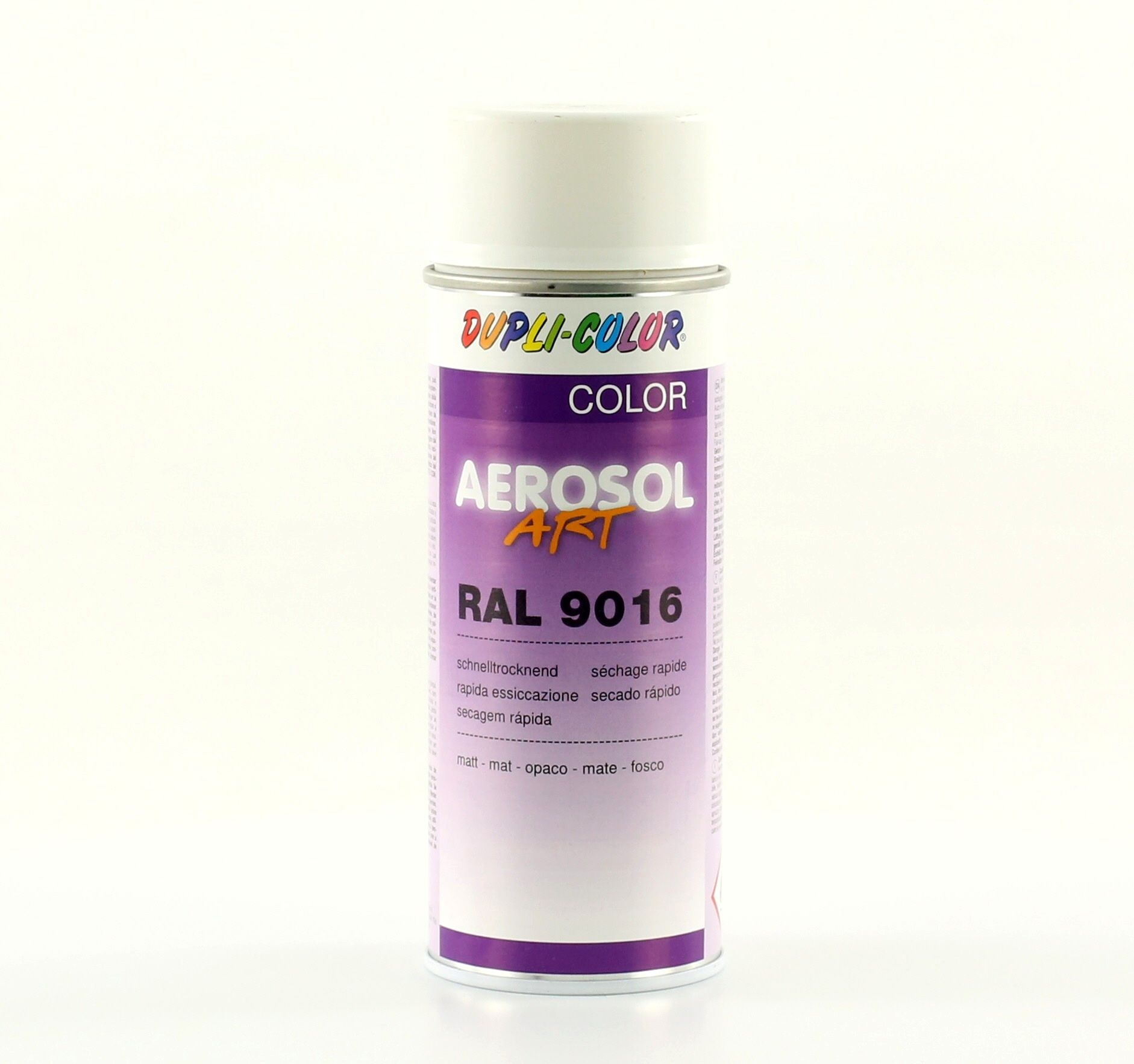 Bombe de peinture MoTip blanc trafic mat RAL 9016 400 ml M01629