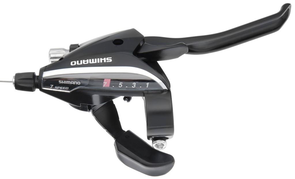 Levier de frein/Manette Shimano ST-EF 65 7V noir à 4 doigts