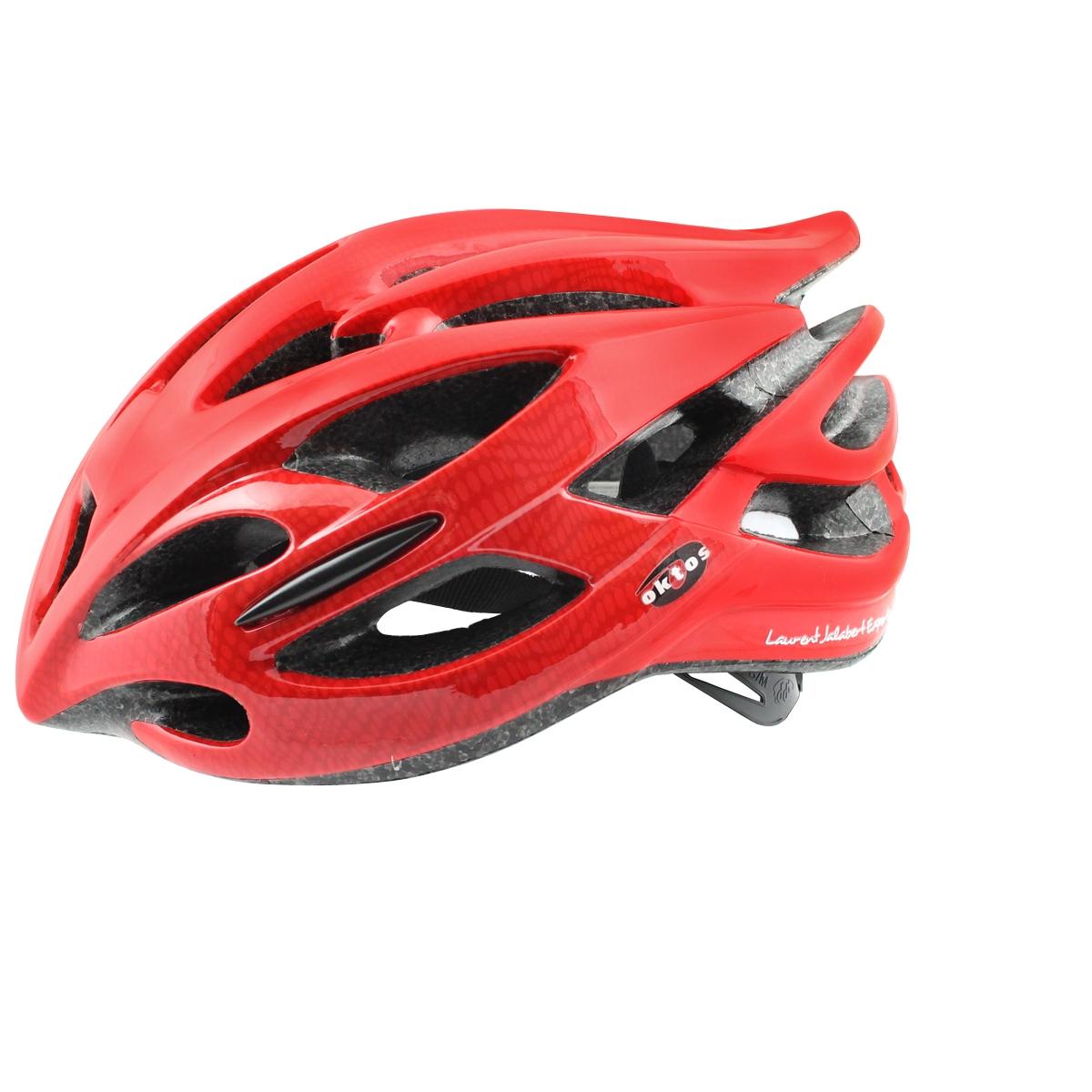 Casque vélo Oktos Racing Jalabert Rouge - S/M 52-58 cm