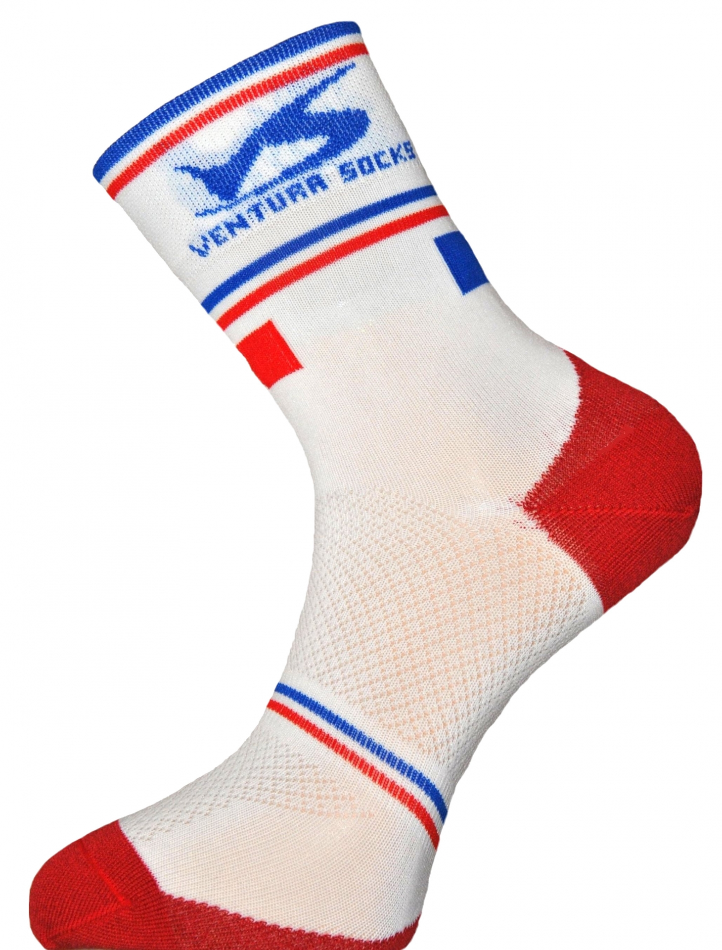 Chaussettes Ventura Socks Carbone Nation France Blanc - 39/42