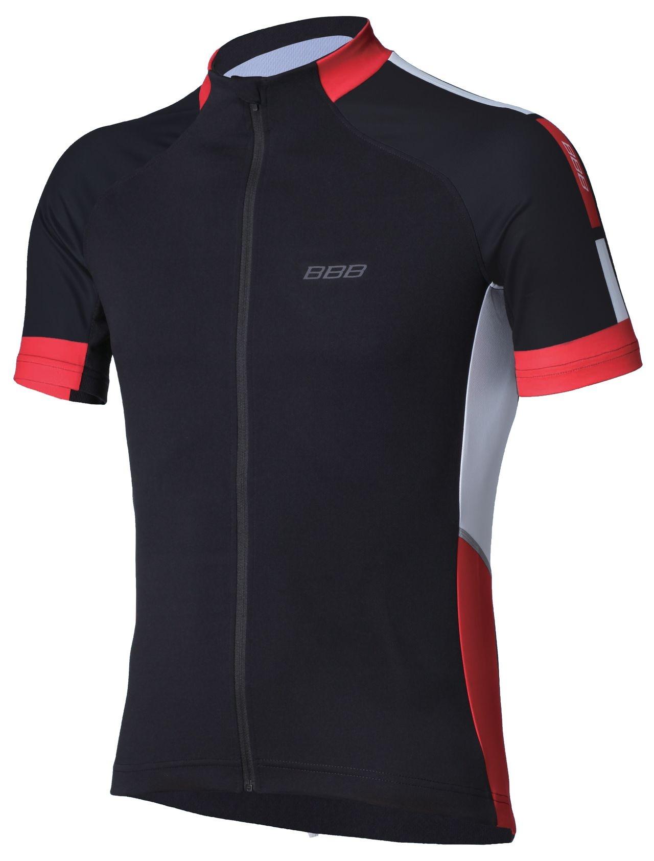 Maillot été BBB jersey ComfortFit (noir/rouge) - BBW-234 - L