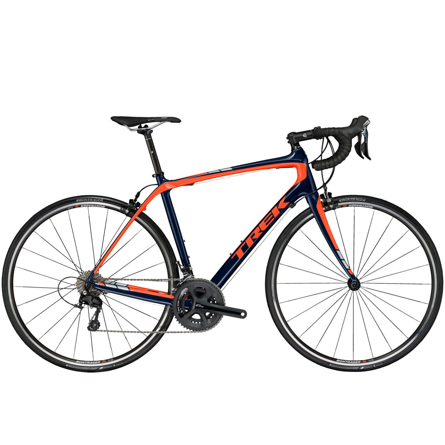 Vélo route Trek Domane S 5 Bleu/Orange 2017 - 54 cm
