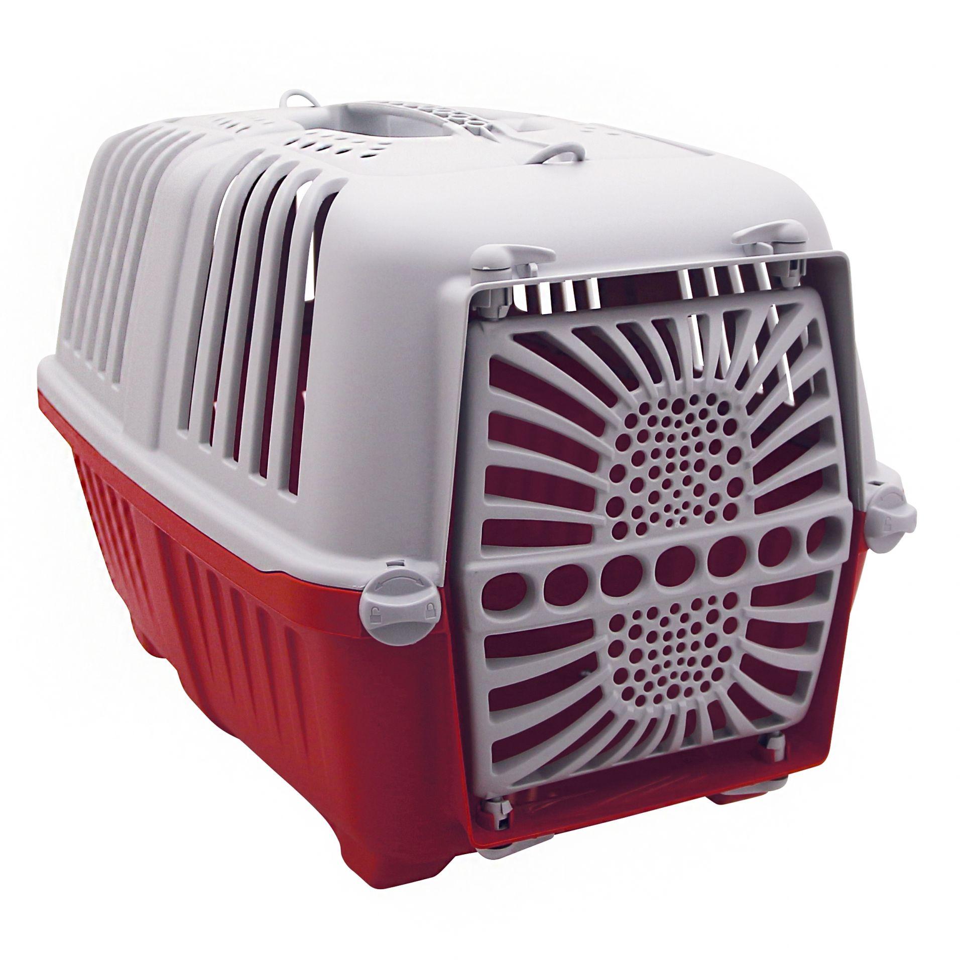 Panier arrière Bellelli Peggy pour chien fix. porte-bagages Rouge/Gris