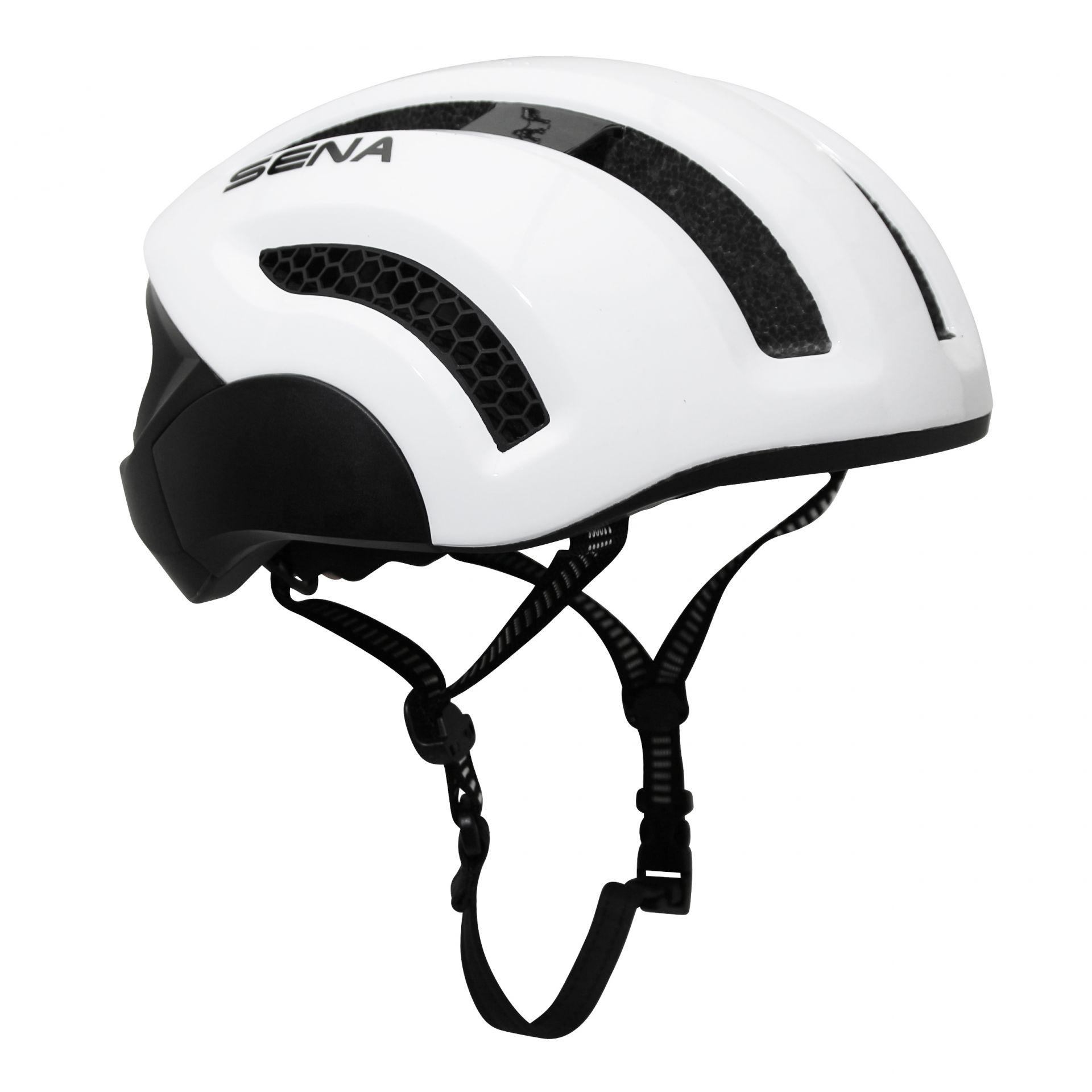 Casque vélo Sena X1 In-Mold Connection Bluetooth 4.1 Avec kit main-libre Blanc - M (55-59 cm)