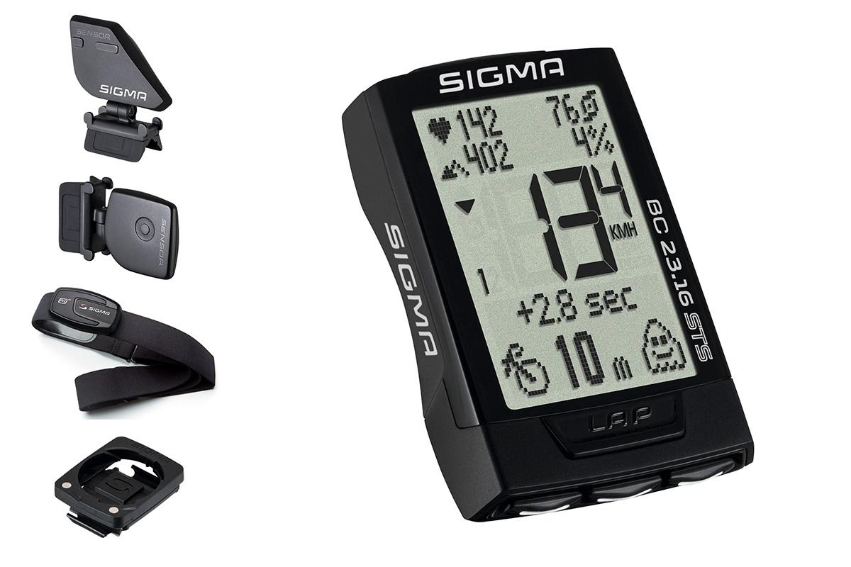 Compteur sans fil Sigma BC 23.16 STS Cardio + Altimètre + Cadence