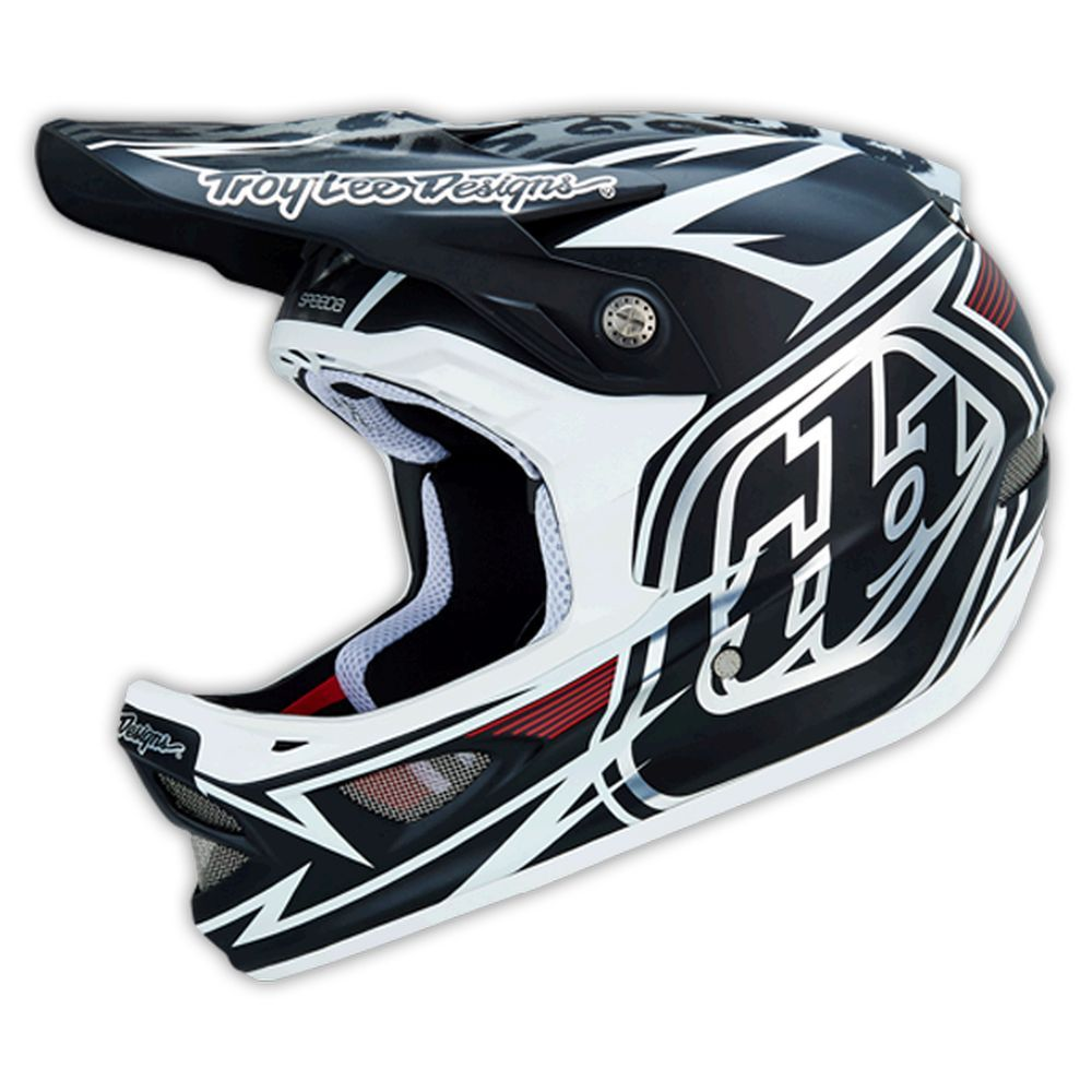 Casque Troy Lee Designs D3 Speeda Blanc - L