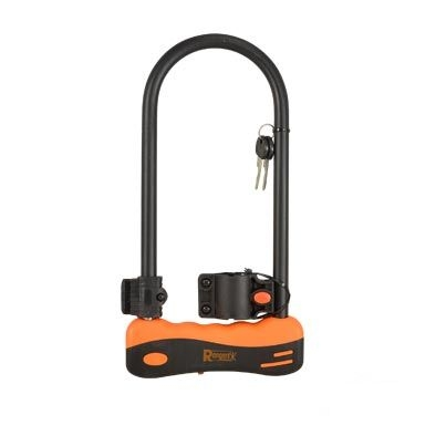 Antivol Rangers U 165 x 245 mm Noir/Orange (Support inclus)