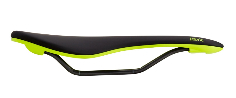 Selle Fabric Scoop Flat Elite 142 mm Noir/Jaune fluo