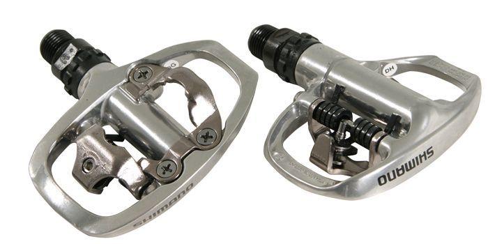 Pédales Shimano cyclo SPD PD-A520 Argent