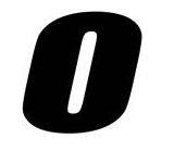 Sticker lettre O Noir