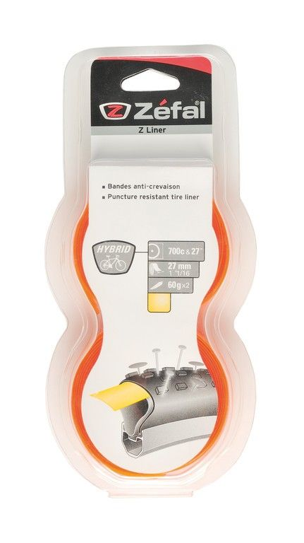 Bande anticrevaison Zefal Z-Liner jaune Hybride/VTC 27 mm