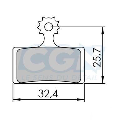 Plaquettes de frein 39 Clarks Exotherm comp. Shimano XTR / XT / SLX Organique