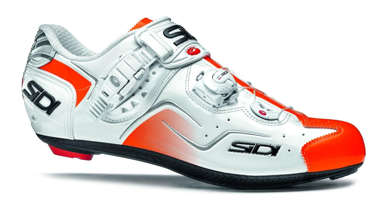 Chaussures Sidi KAOS Blanc/Orange verni - 42