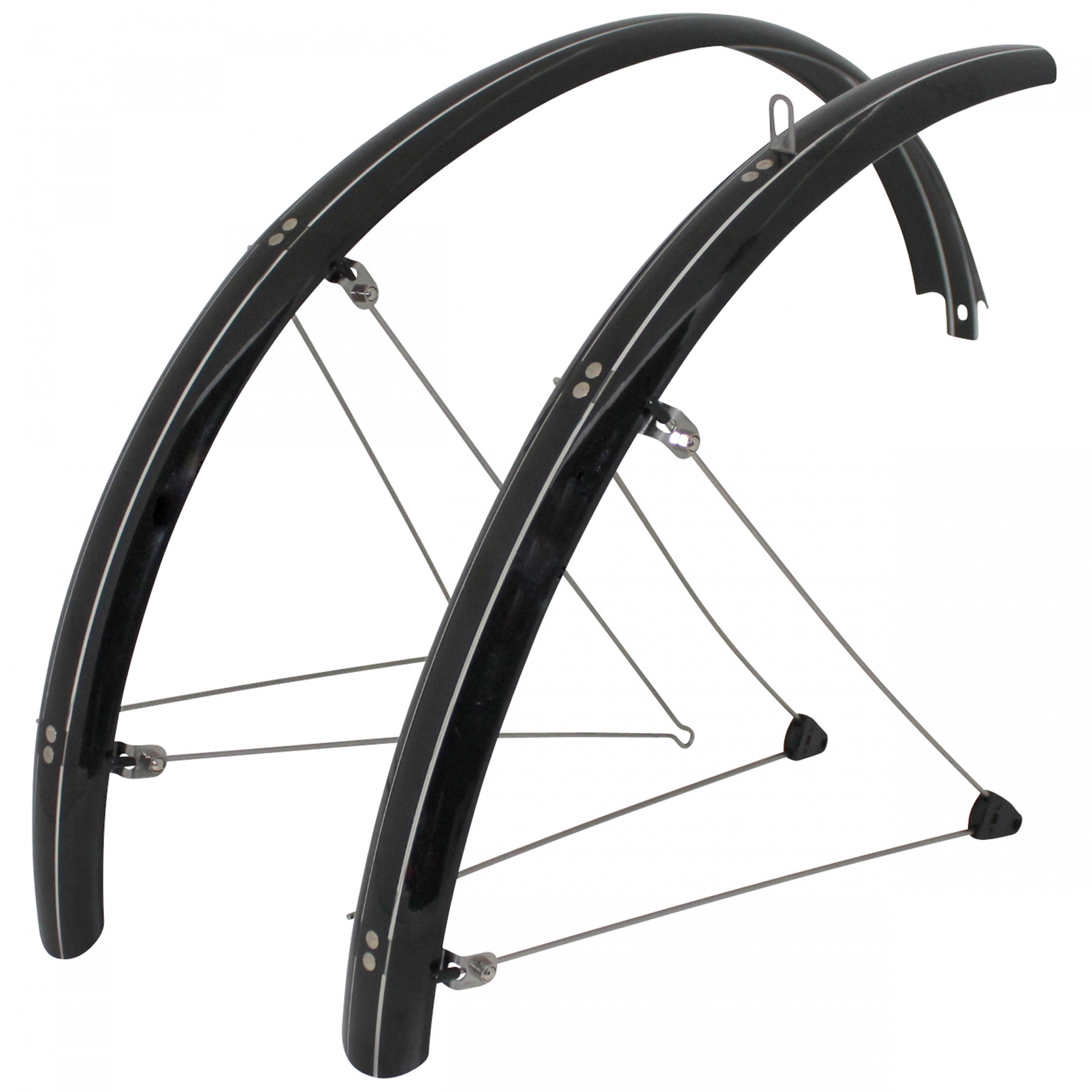 Garde-boue Stronglight Country VTT à tringles 26'' 54 mm Noir (paire)