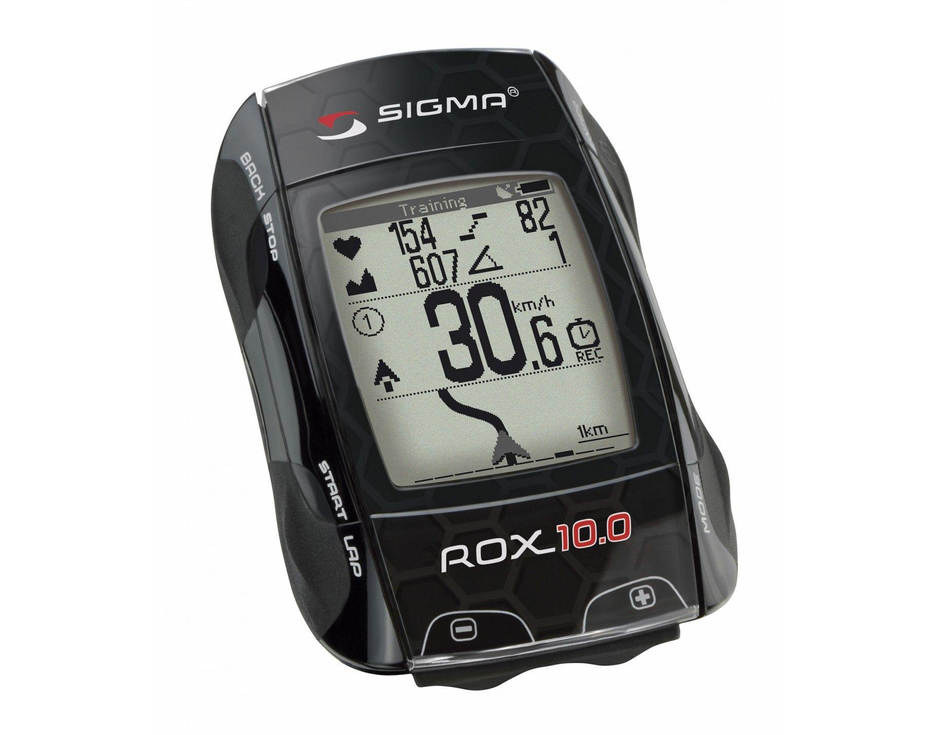 Ordinateur Cycliste Sigma Rox 10.0 GPS Pack complet Noir