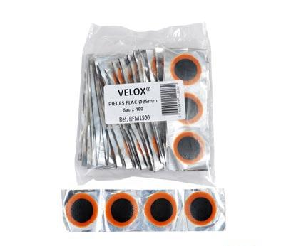 Pièces de réparation Rustines VELOX Ronde 25 mm (100 pièces)