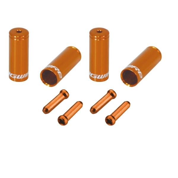 Pack arrêts de gaines et embouts Jagwire Universal Pro - Tango Orange