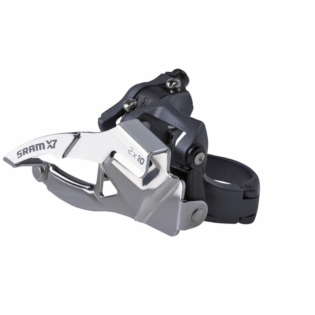 Dérailleur avant VTT SRAM X7 2x10 Fixation collier bas S1 42 dents Tirage Haut/Bas