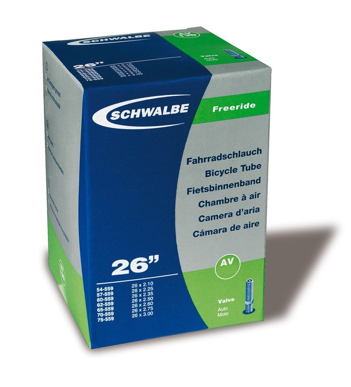 Chambre à air Schwalbe 26 x 2.10/3.00 TR 4 Freeride AV13F Schrader 40 mm