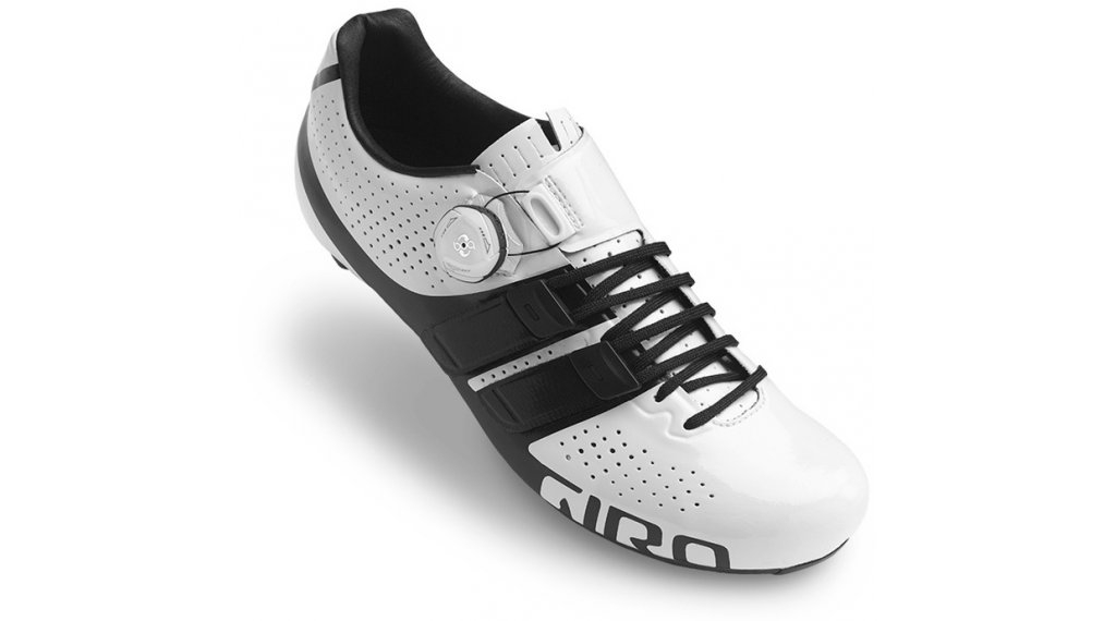 Chaussures route Giro Factor Techlace Blanc/Noir - 42