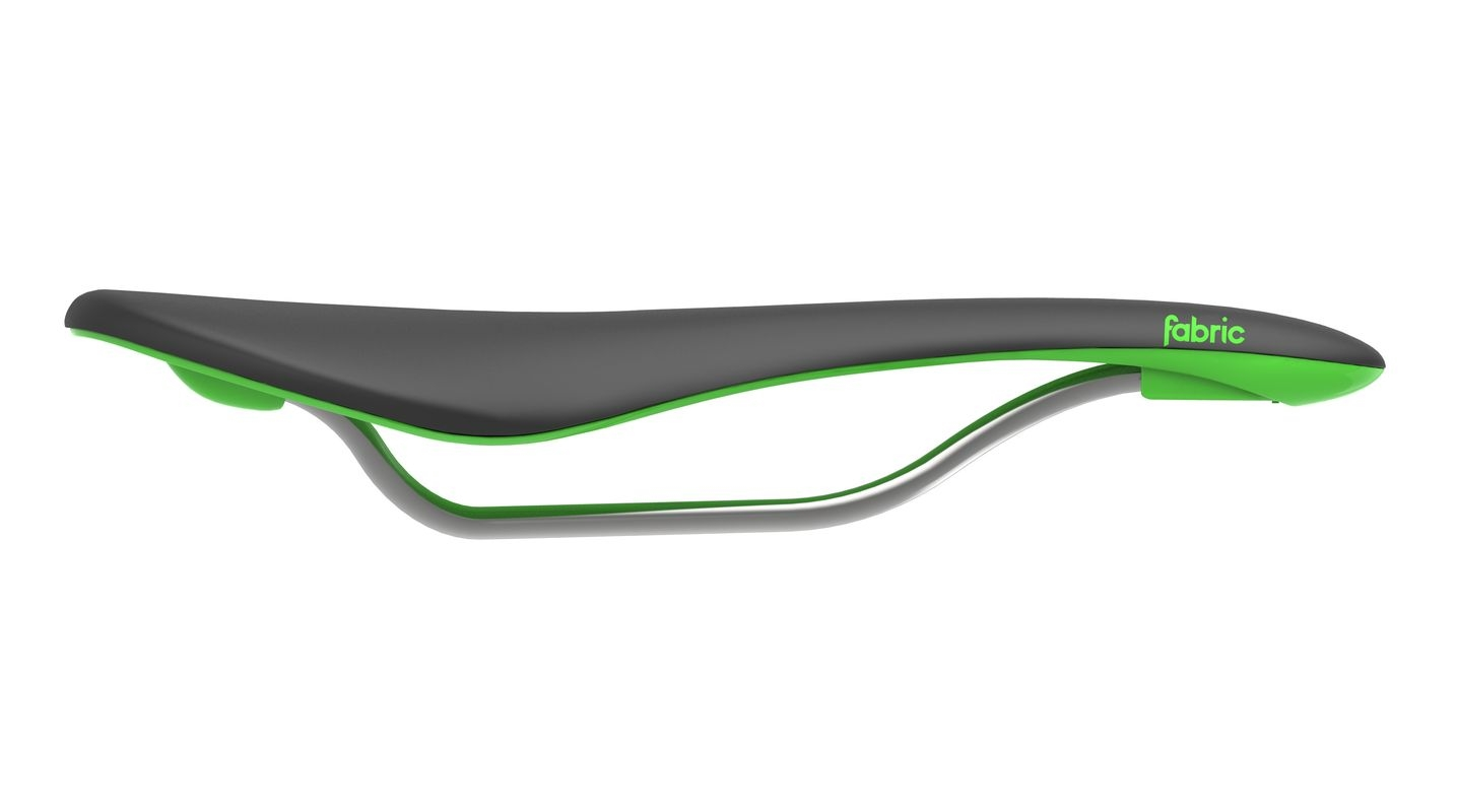 Selle Fabric Scoop Flat Elite 142 mm Noir/Vert