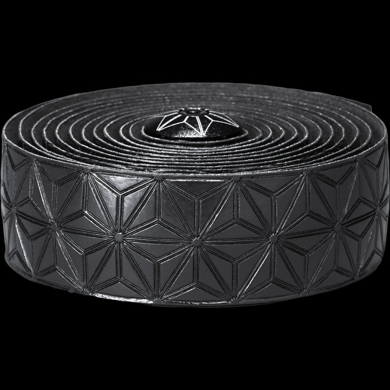 Ruban de cintre Supacaz Super Sticky Kush Tape Noir/Bouchons Noir