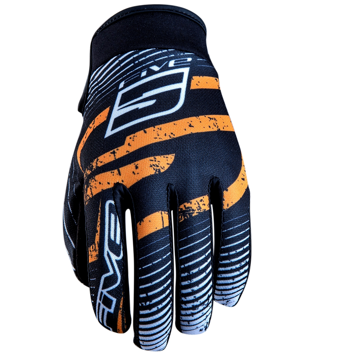 Gants Five Planet Fashion Logo Orange - L