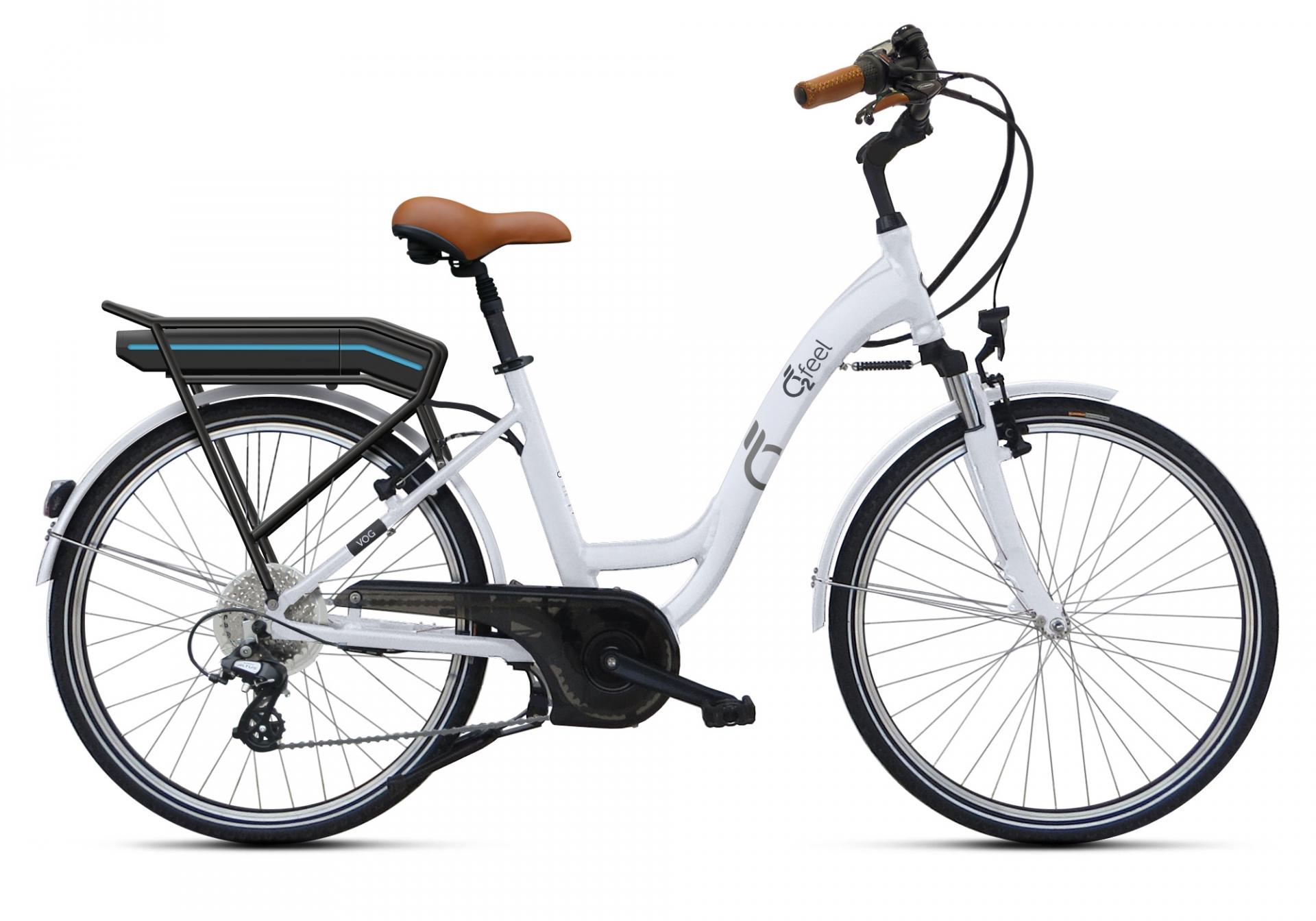 Vélo électrique O2Feel Vog D8C 28 374 Wh Blanc
