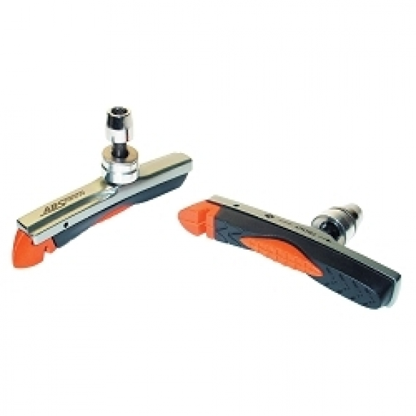 Porte-patins VTT Baradine V-brake 78 mm Noir/Orange (Paire)