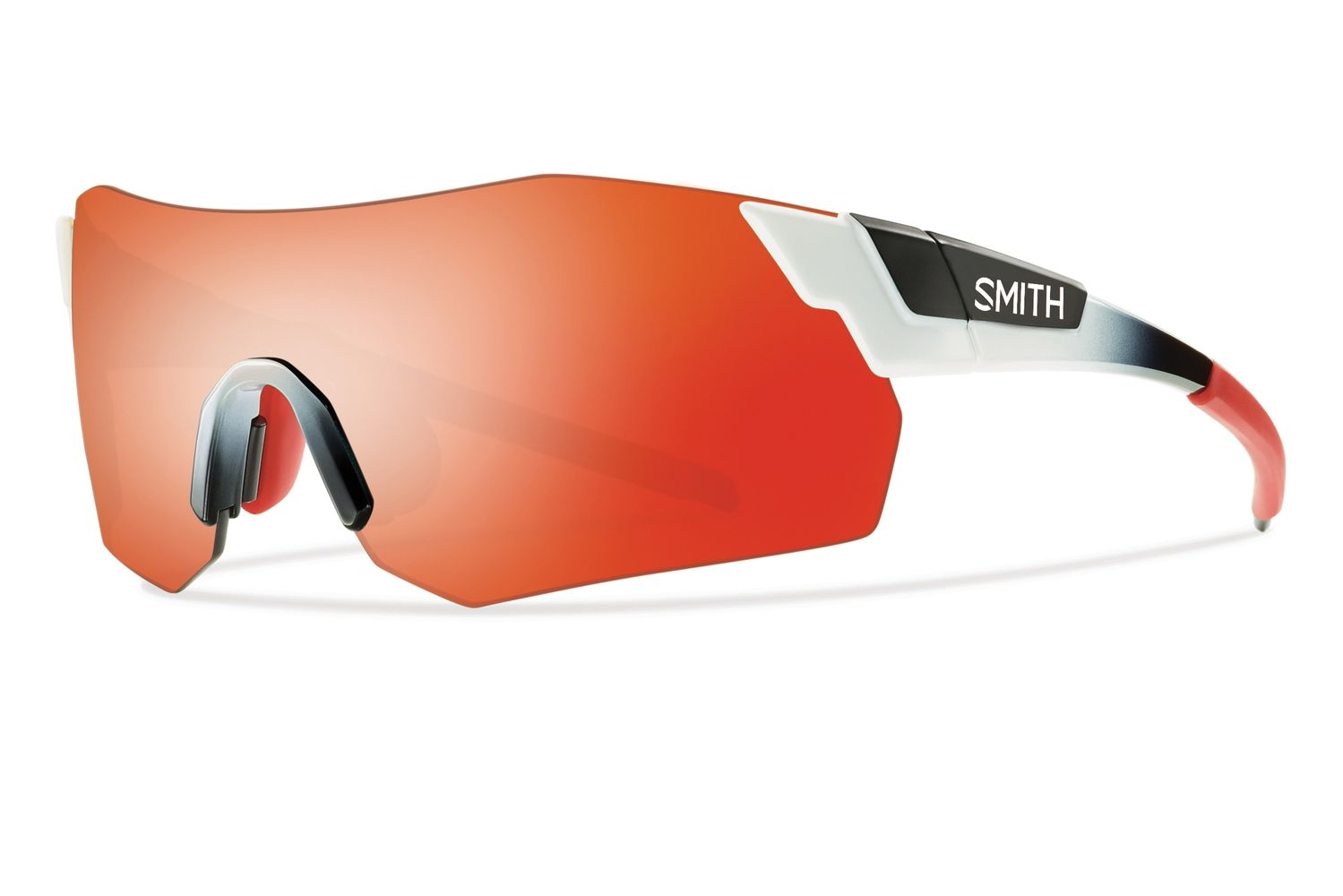 Lunettes Smith Optics PivLock Arena Max Blanc Rouge Fade Super Platinum