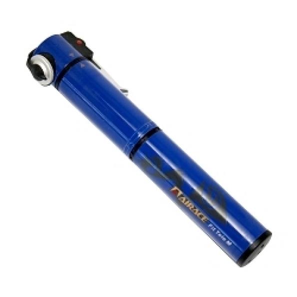 Mini pompe airace fit tele m (vtt) 5.5 bars vs/vp ø24 bleu (livre avec support)