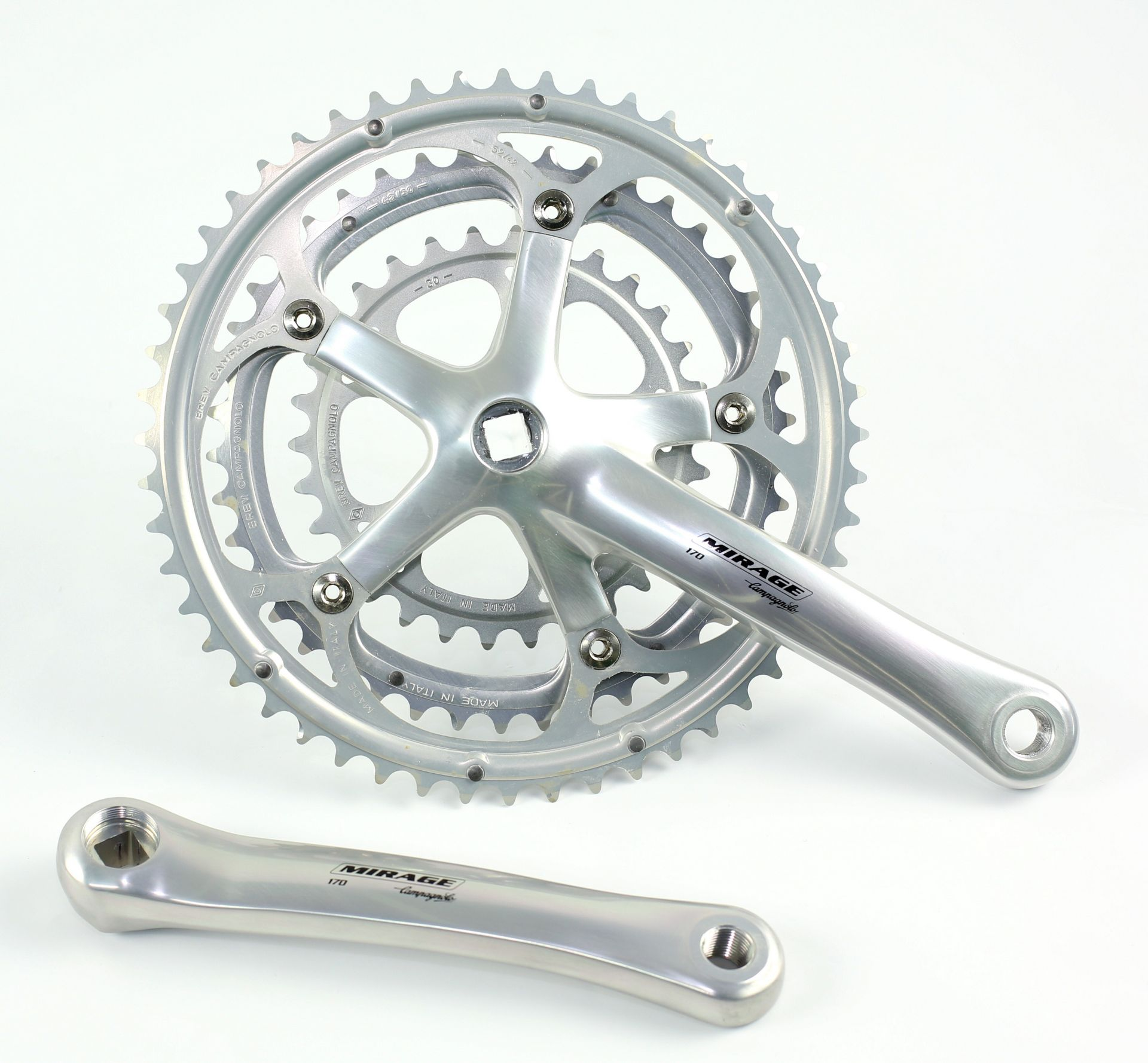 Pédalier Campagnolo Mirage triple 9V carré 170 mm