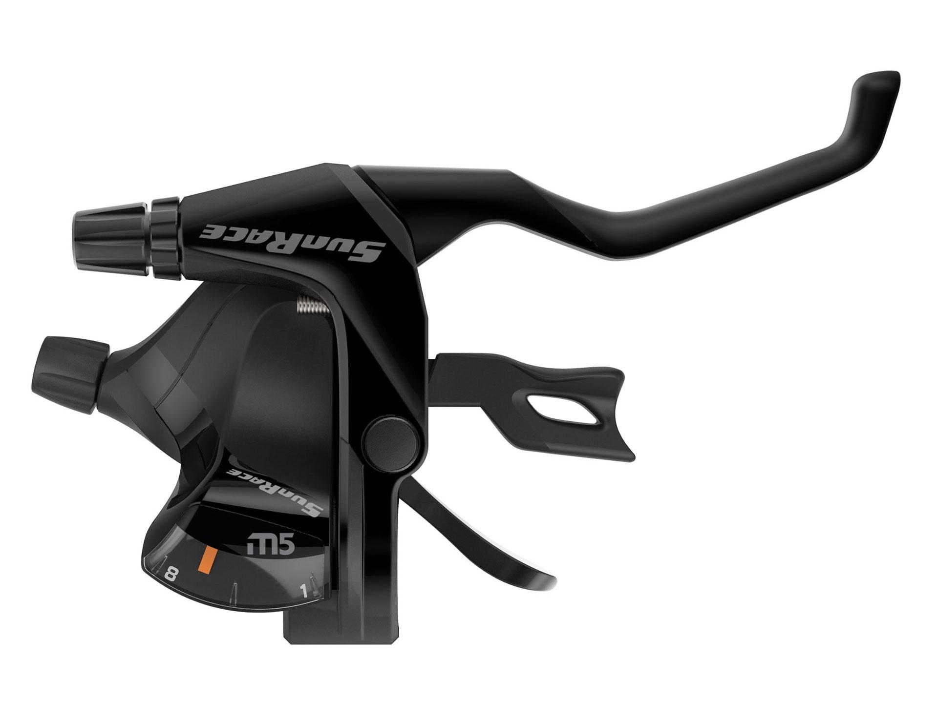 Levier de frein / Manette SunRace STM500 8x3 vitesses Noir (La paire)