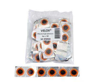 Pièces de réparation Rustines VELOX Ronde 15 mm (100 pièces)