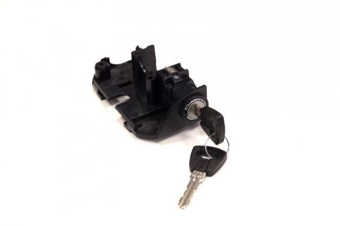 Serrure ABUS de batterie Bosch gén. 2 sur porte-bagages Noir