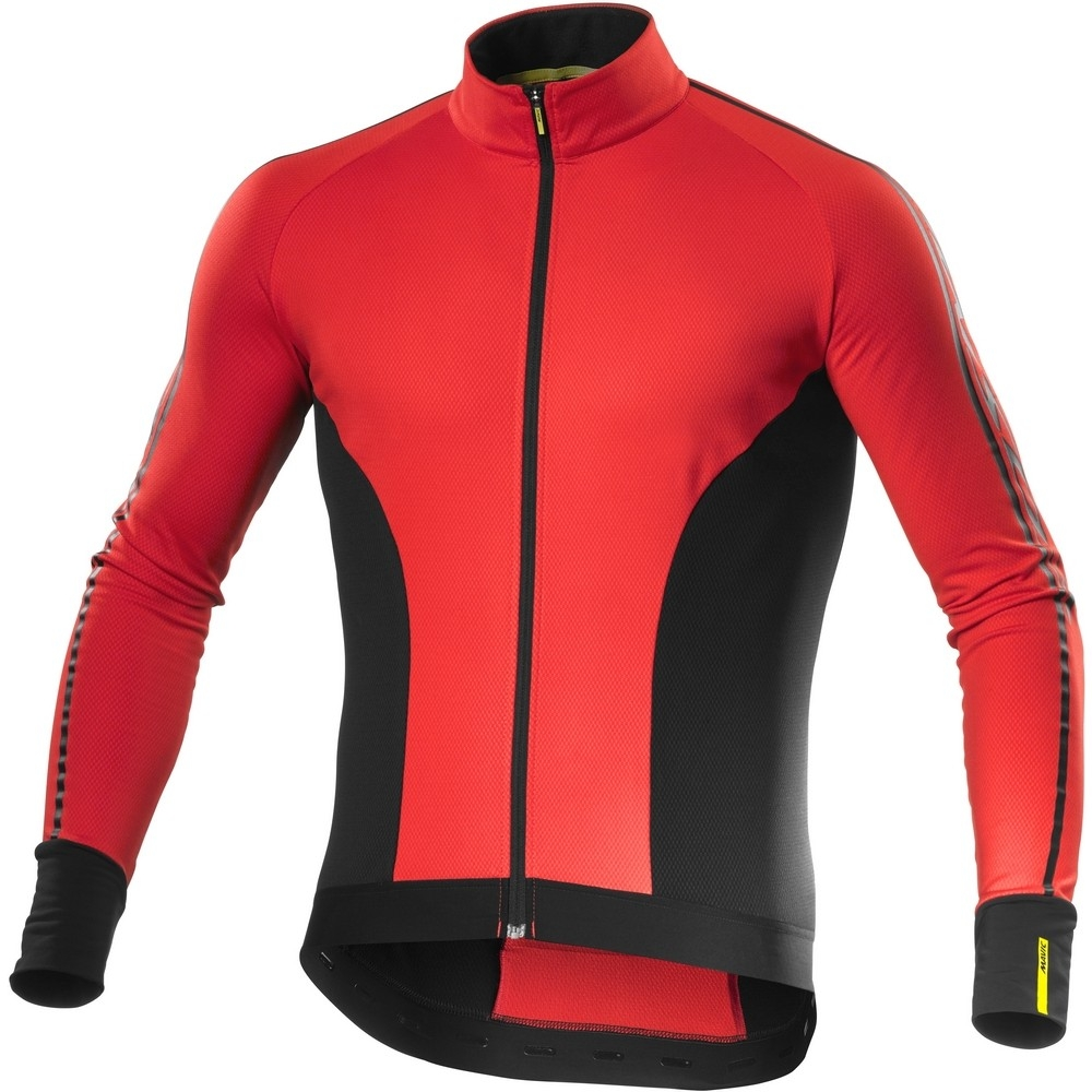 Maillot Mavic manches longues Cosmic Elite Thermo Rouge Racing/Noir - L